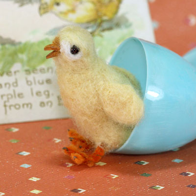 Needle-felted-chick